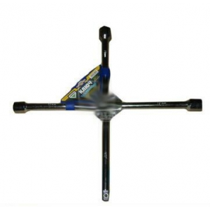 Ключ крест усиленный, с центр. пластиной, хром 17X19X21X1/2 мм. <ARMER>