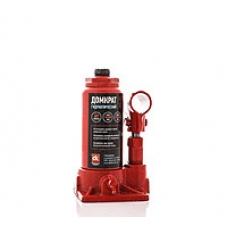 Домкрат бутылочный, 2т пластик, красный H=150/280 <ДК>
