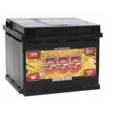 Аккумулятор 60Ah-12v 555 (243x175x190),R,EN540
