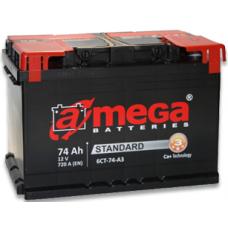 Аккумулятор   74Ah-12v AMEGA Standard  (278x175x190),L,EN720