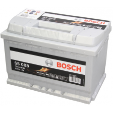 Аккумулятор   77Ah-12v BOSCH (S5008) (278x175x190),R,EN780