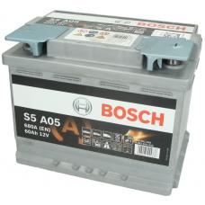 Аккумулятор 60Ah-12v BOSCH AGM (S5A50) (242x175x190),R,EN680