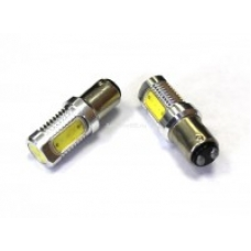 Лампа LED двухконтактная  указателей поворотов и стоп-сигналов  4SMD Mega-LED BAY15d 12V WHITE