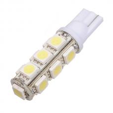 Лампа LED б/ц  габарит и панель приборов T10 13SMD  W5W 12V WHITE  <TEMPEST>