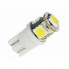 Лампа LED б/ц  габарит и панель приборов T10-5SMD W2.1x9.5d 12V WHITE<TEMPEST>