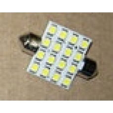 Лампа LED софитная C5W 12V  T11x36-S8.5 (16 SMD 2835) WHITE