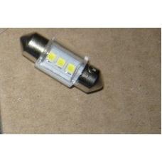Лампа LED софитная  C5W 12V  T11x31-S8.5 (3 SMD size3528)  WHITE
