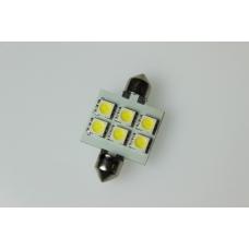 Лампа LED софитная C5W 12V   T11x31-S8.5(6SMD,size 5050)  WHITE