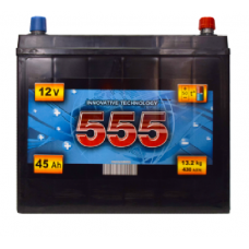 Аккумулятор   45Ah-12v 555 (223x129x212),R,EN430 Азия